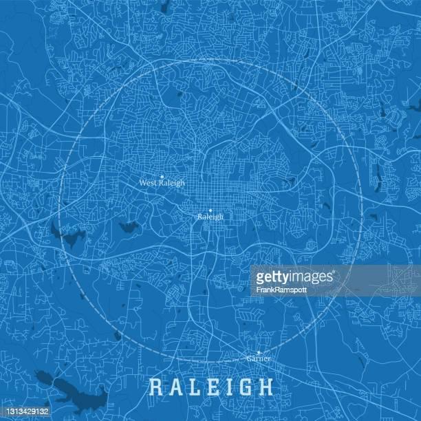ローリーncシティベクトルロードマップブルーテキスト - ノースカロライナ州ローリー点のイラスト素材/クリップアート素材/マンガ素材/アイコン素材