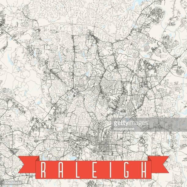 ローリー、ノースカロライナ州、米国のベクトルマップ - ノースカロライナ州ローリー点のイラスト素材/クリップアート素材/マンガ素材/アイコン素材