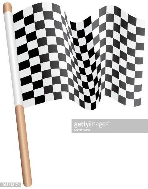 rally flag checkered racing - street racing stock illustrations, clip art, cartoons, & icons