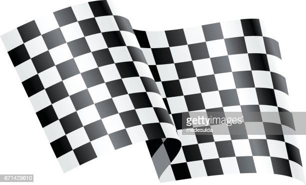 rally flag - checkered flag stock illustrations