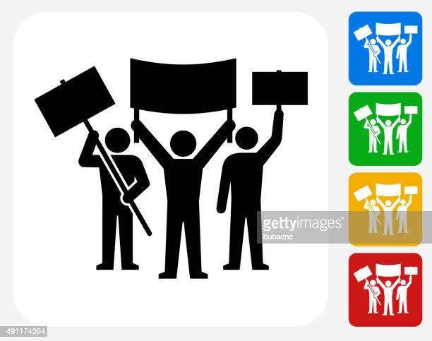rally group icon flat graphic design - striker stock illustrations