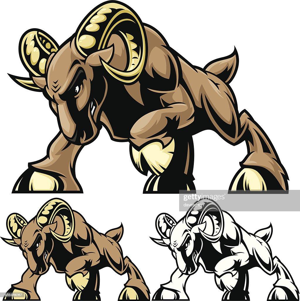 Ram Charge Stance : stock illustration