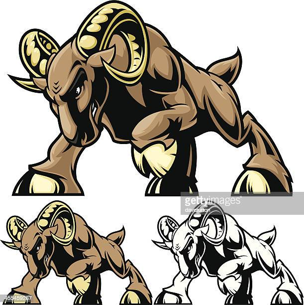 ram charge stance - animals charging stock illustrations, clip art, cartoons, & icons
