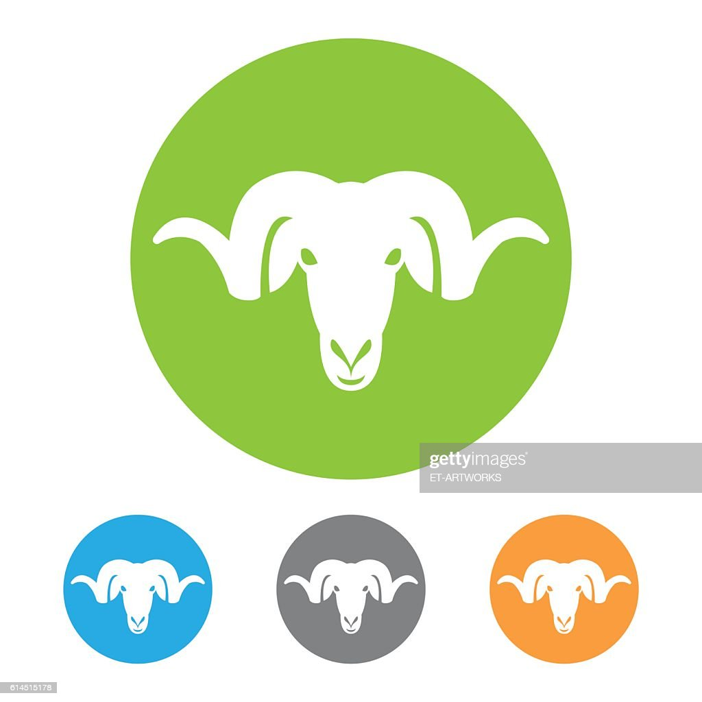 Ram head icon : stock illustration