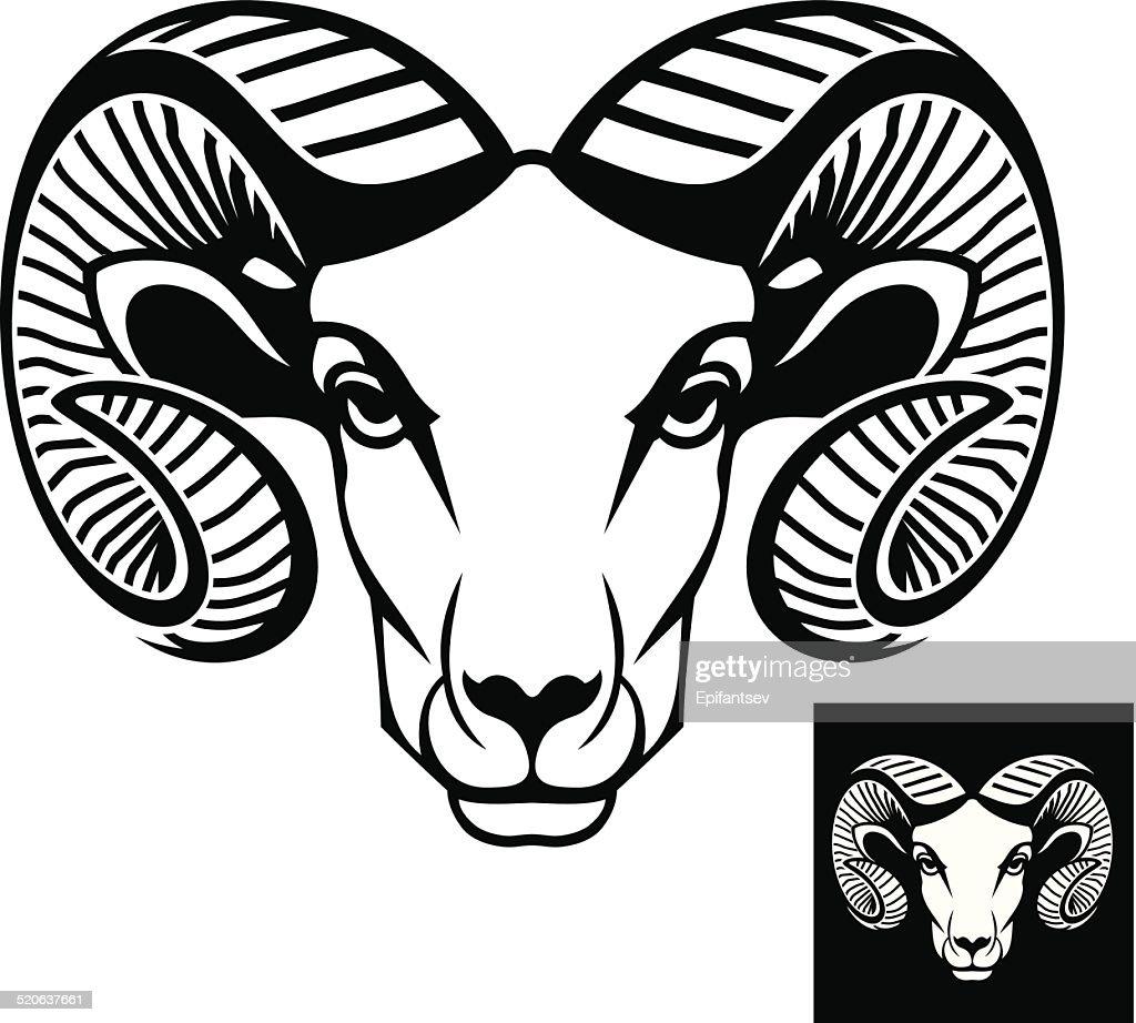Ram head logo or icon