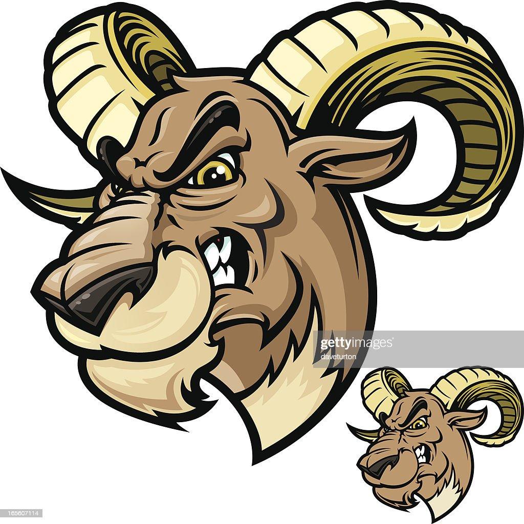 Ram Head Vicious : Stock Illustration