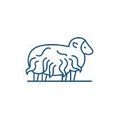 Ram line icon concept. Ram flat  vector symbol, sign, outline illustration.