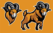 Ram mascot set collection
