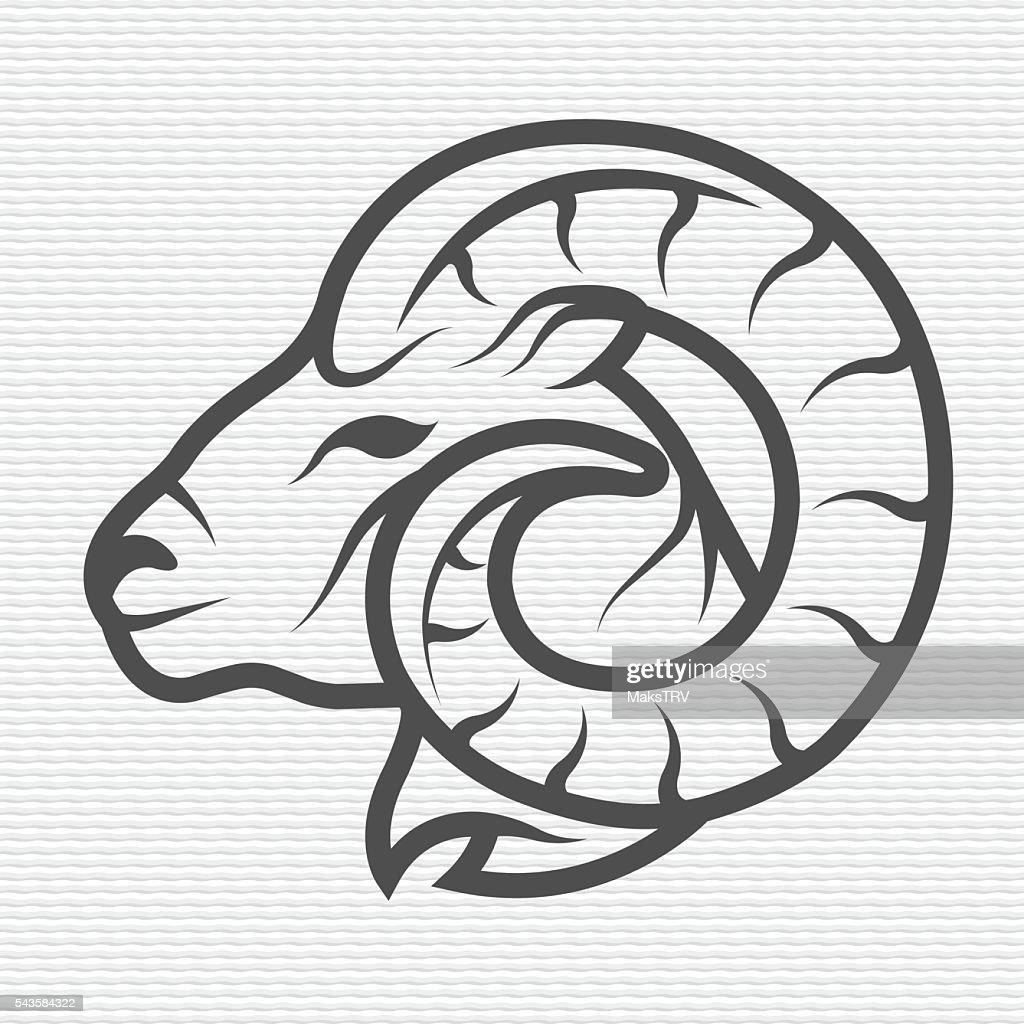 Ram symbol, logo, emblem.