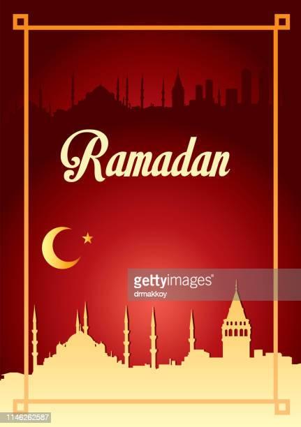 ramadan background - istanbul province stock illustrations