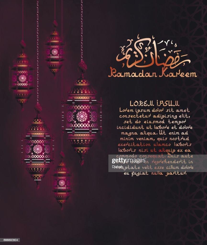 Ramadan Background with Lanterns