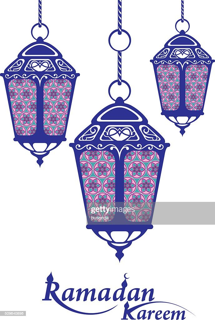 Ramadan background with Ramadan Kareem