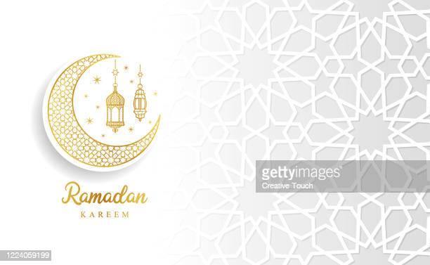 illustrations, cliparts, dessins animés et icônes de carte de célébration du ramadan - bonne fete de ramadan