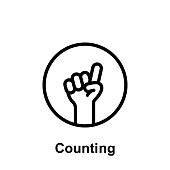 Ramadan counting outline icon. Element of Ramadan day illustration icon. Signs and symbols can be used for web, logo, mobile app, UI, UX