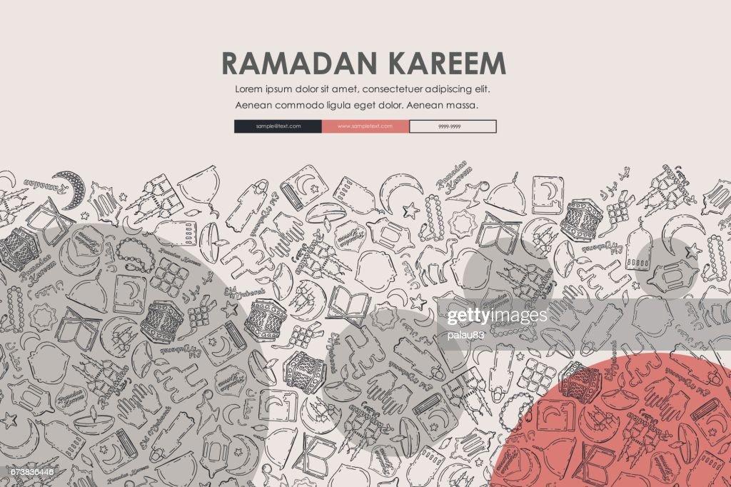 ramadan Doodle Website Template Design
