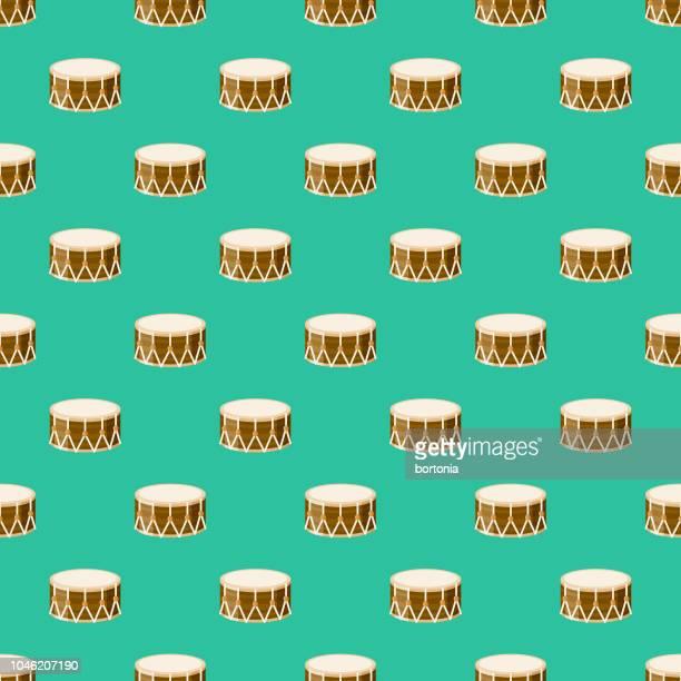 ramadan drum seamless pattern - fasting activity stock illustrations, clip art, cartoons, & icons