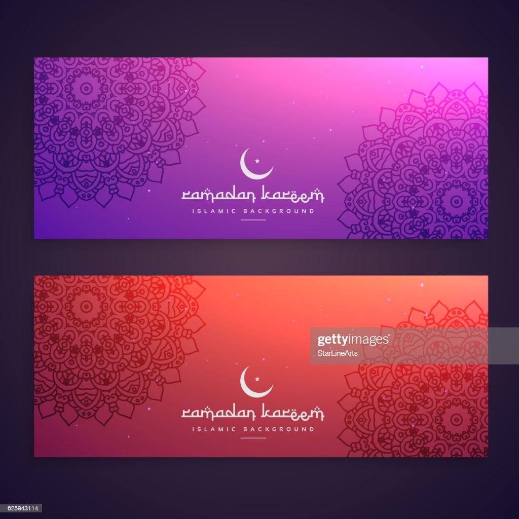ramadan festival ethnic banners