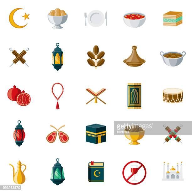 Ramadan Flat Design Icon Set