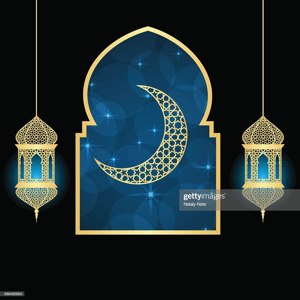 Ramadan Greeting Card Vector Art Getty Images