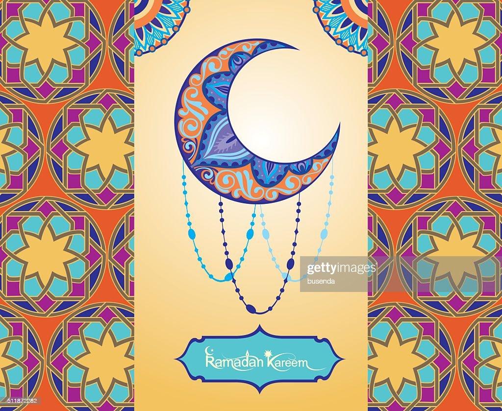Ramadan greetings background. Salam hari raya means Happy new year