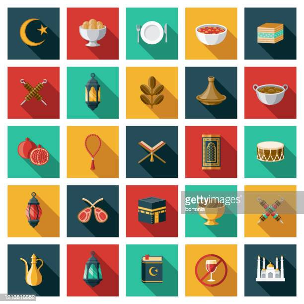 illustrations, cliparts, dessins animés et icônes de ensemble d'icônes de ramadan - bonne fete de ramadan