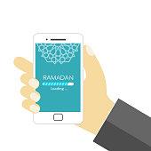Ramadan is loading - EPS Vector