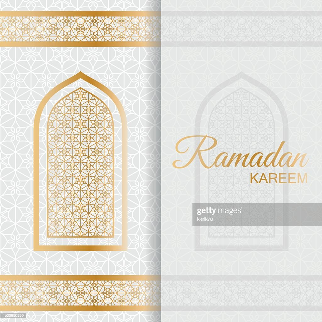 Ramadan Kareem Background. Islamic Arabic window