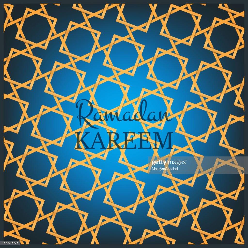 Ramadan Kareem Karte Designvorlage Arabischen Hintergrund Mit ...
