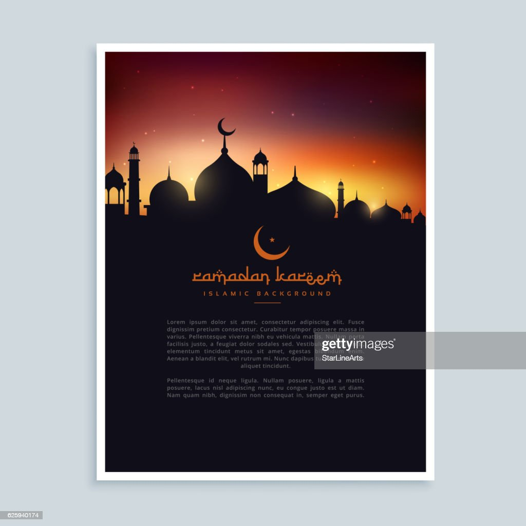 ramadan kareem flyer poster template