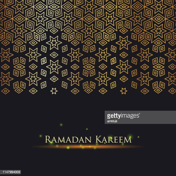 ramadan kareem gold - eid mubarak stock illustrations