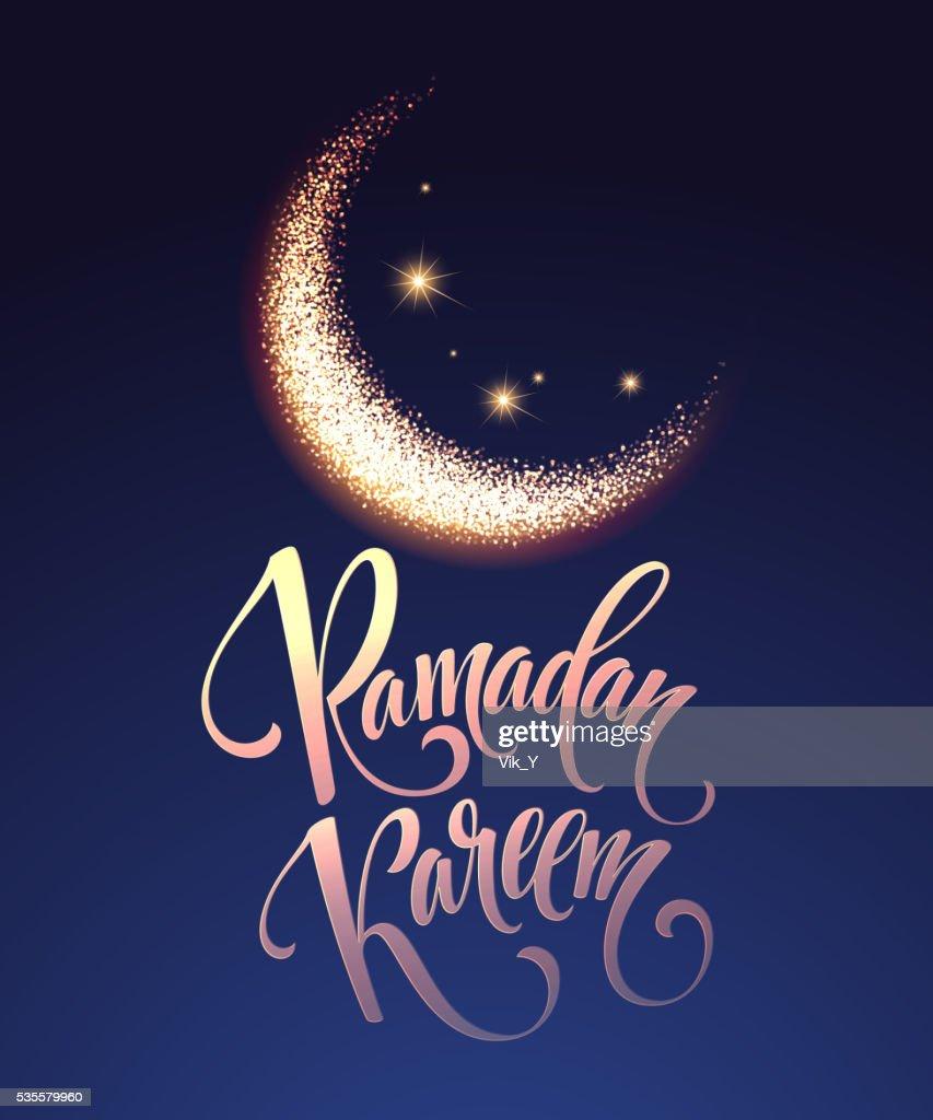 Ramadan Kareem greeting lettering card