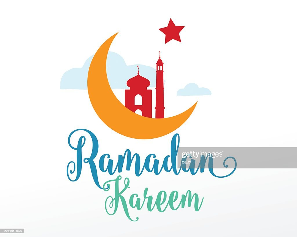 Ramadan Kareem greeting typographic vector design
