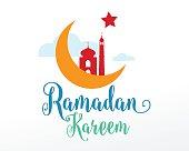 Ramadan Kareem greeting typographic vector design