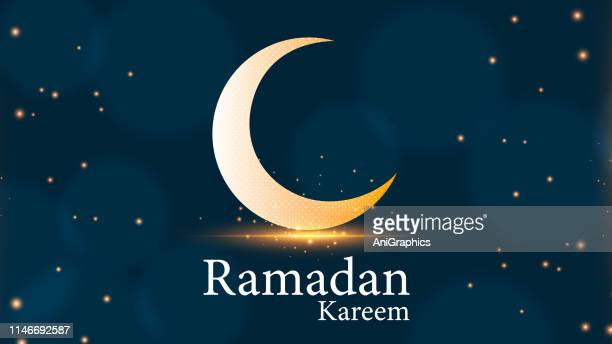 ramadan kareem greetings for ramadan background - eid mubarak stock illustrations