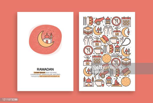 ramadan kareem related design. modern vector templates for brochure, cover, flyer and annual report. - hari raya stock illustrations