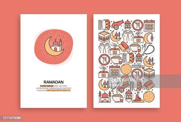 ramadan kareem related design. modern vector templates for brochure, cover, flyer and annual report. - eid ul fitr stock illustrations
