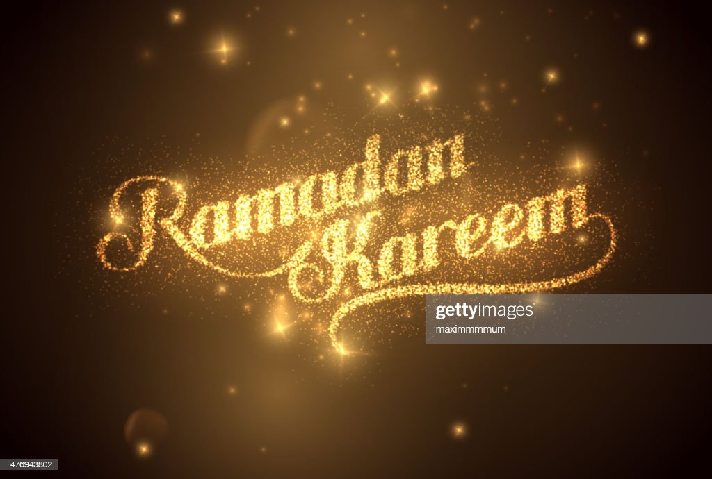 Ramadan Kareem shiny label