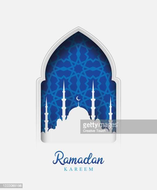 ramadan kareem - mosque stock illustrations