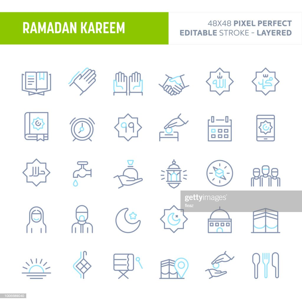 Ramadan Minimal Vector Icon Set (EPS 10)