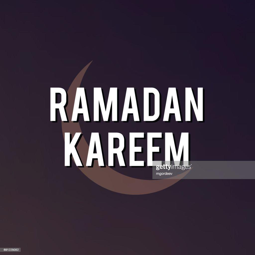 Ramadan Mubarak And Kareem Greeting Card Vector Art Getty Images