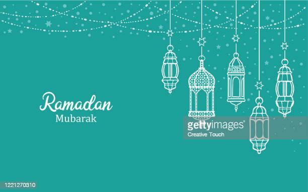 ramadan mubarak - ramadan decoration stock illustrations
