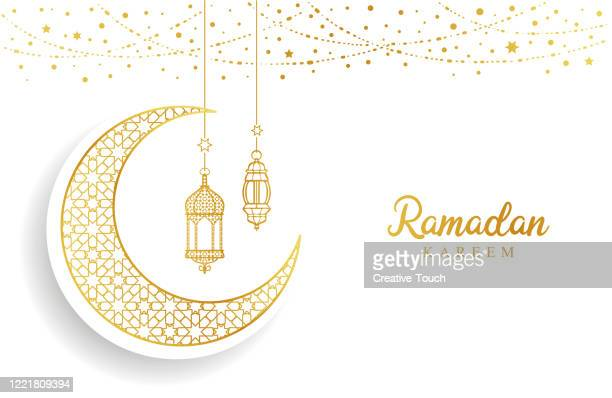 ramadan mubarak - ramadan stock illustrations
