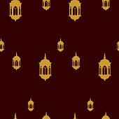 Ramadan seamless pattern, vector background