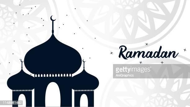 ramadan with lentern design background - beautiful ramadan stock illustrations