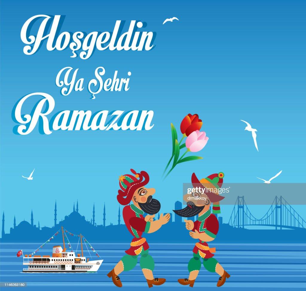 Ramadankaragöz And Hacivat Stock Vector Getty Images