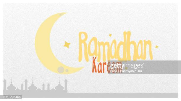 ramadhan kareem grain illustration - bulletin board flyer stock illustrations