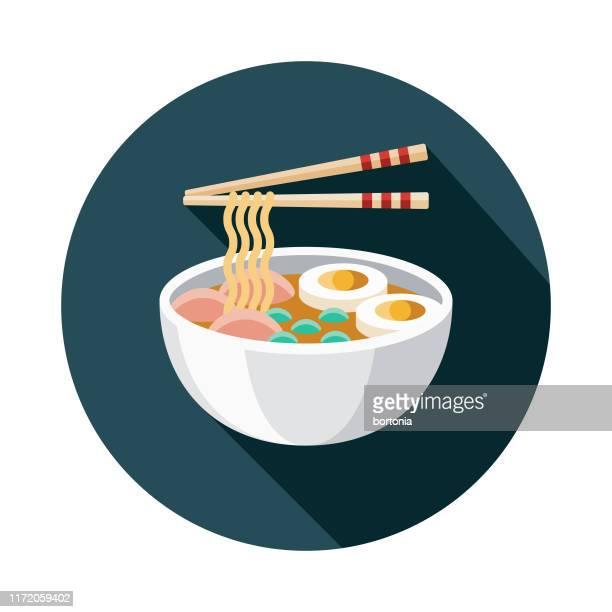 ramen japanese food icon - ramen noodles stock illustrations