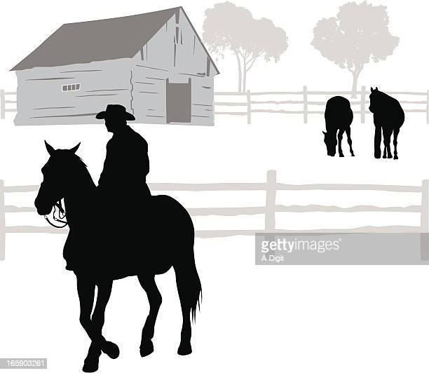 Rancher Vector Silhouette