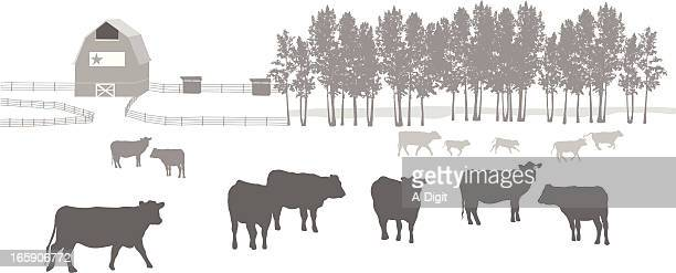 Ranching Vector Silhouette