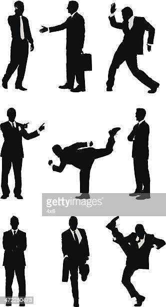Random businessmen silhouettes
